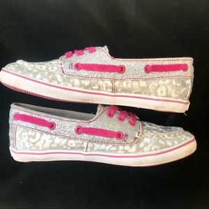 """Sperry Top Sider """"Cruiser"""" Silver & Pink"""